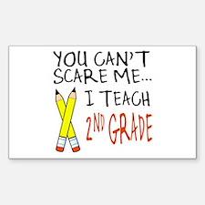 2nd Grade Teacher Rectangle Decal