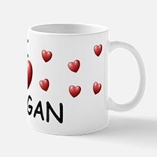 I Love Meagan - Mug