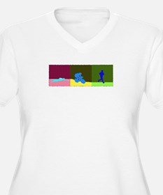 TRIATHLON TRIPTYCH PAINTING DARK T-Shirt
