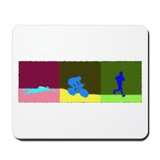 TRIATHLON TRIPTYCH PAINTING DARK Mousepad