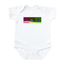TRIATHLON TRIPTYCH PAINTING DARK Infant Bodysuit