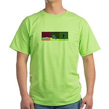 TRIATHLON TRIPTYCH PAINTING DARK T-Shirt