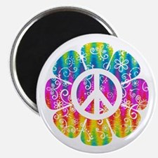 Colorful Peace Flower Magnet