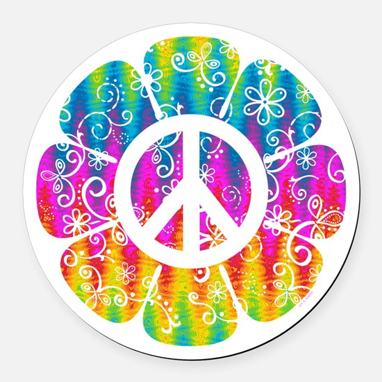 Hippie Car Magnets CafePress - Magnetic car decals flowers