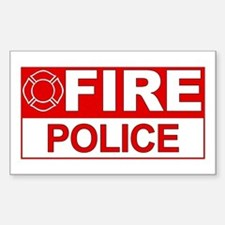 Fire Police Rectangle Stickers