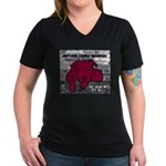 Me & My Pit Bull Women's V-Neck Dark T-Shirt