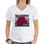 Me & My Pit Bull Women's V-Neck T-Shirt