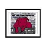 Me & My Pit Bull Framed Panel Print