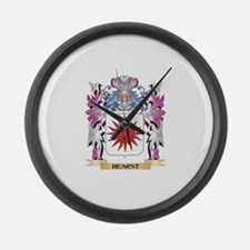 Hearst Coat of Arms (Family Crest Large Wall Clock