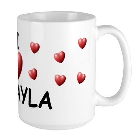 I Love Mikayla - Large Mug