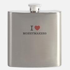 I Love MONEYMAKERS Flask
