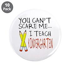 """Kindergarten Teacher 3.5"""" Button (10 pack)"""