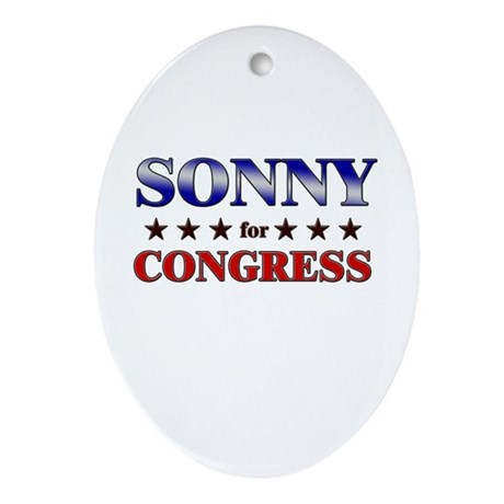 SONNY for congress Oval Ornament