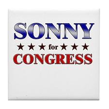 SONNY for congress Tile Coaster