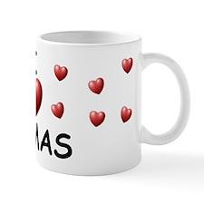 I Love Tomas - Small Mugs
