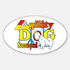 Samoyed Agility Decal