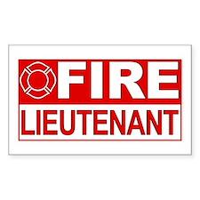 Fire Lieutenant Rectangle Decal