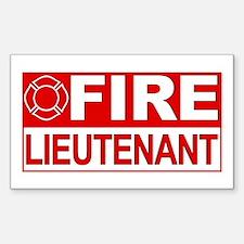 Fire Lieutenant Rectangle Stickers
