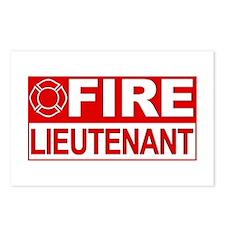 Fire Lieutenant Postcards (Package of 8)