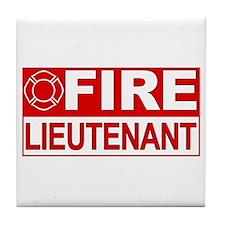 Fire Lieutenant Tile Coaster