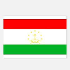 Tajikistan Blank Flag Postcards (Package of 8)