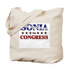 SONIA for congress Tote Bag