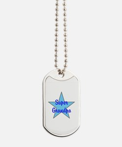 Super Grandpa Dog Tags