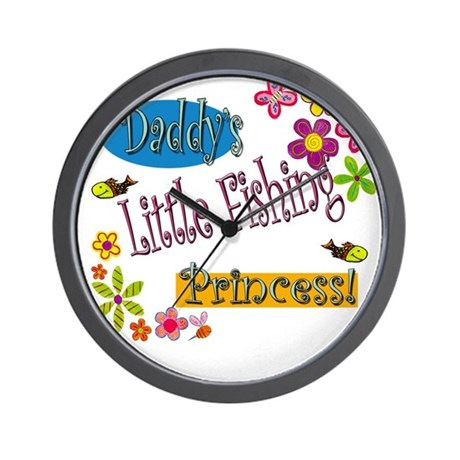 Daddy's Little Fishing Prince Wall Clock