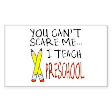 Preschool Teacher Rectangle Decal