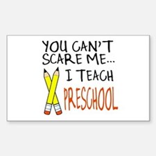 Preschool Teacher Rectangle Decal