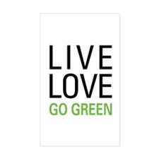 Live Love Go Green Decal