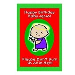 Happy Birthday Baby Jesus Postcards (Package of 8)