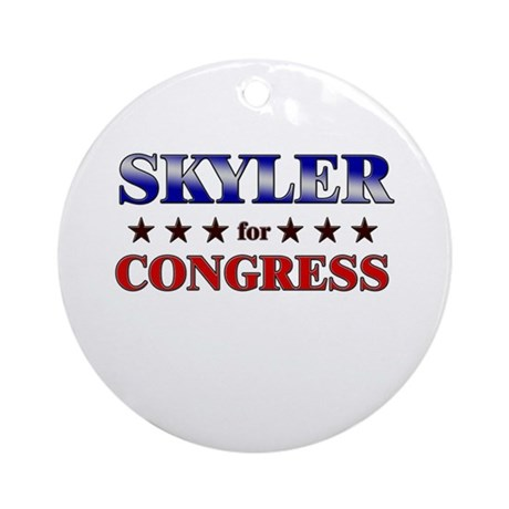 SKYLER for congress Ornament (Round)