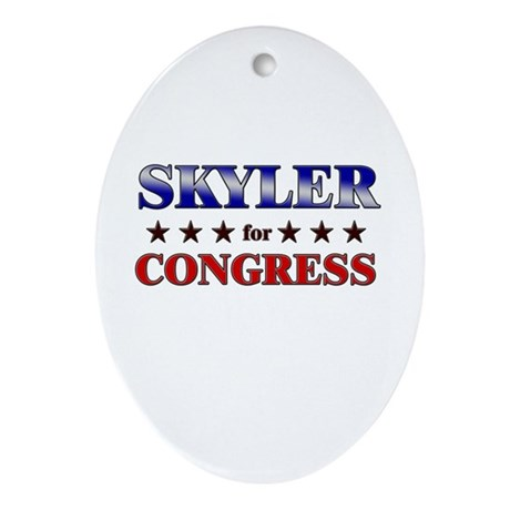 SKYLER for congress Oval Ornament