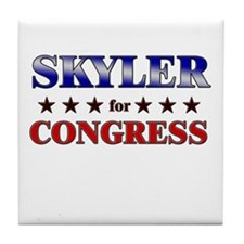 SKYLER for congress Tile Coaster