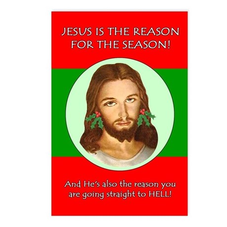 Reason Hell Postcards (Package of 8)