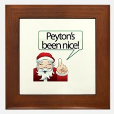 Peyton's Been Nice Framed Tile