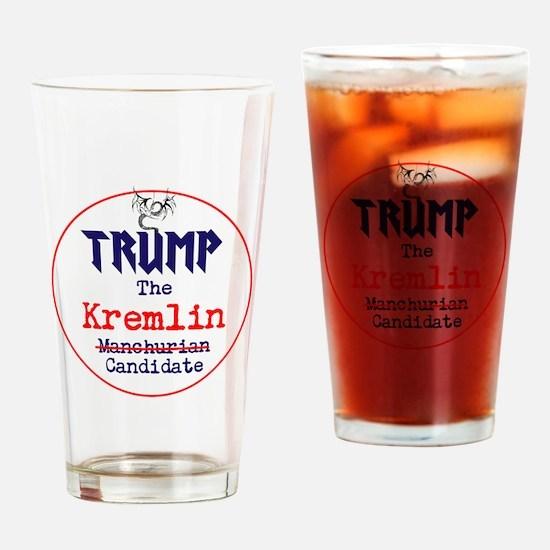 Trump the Kremlin candidate Drinking Glass