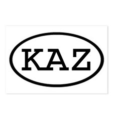 KAZ Oval Postcards (Package of 8)