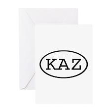 KAZ Oval Greeting Card
