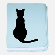 Cat Silhouette baby blanket