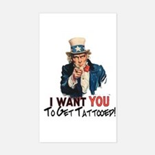 I want you... Rectangle Decal