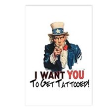 I want you... Postcards (Package of 8)