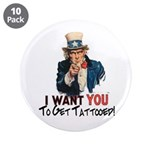 """I want you... 3.5"""" Button (10 pack)"""