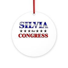SILVIA for congress Ornament (Round)