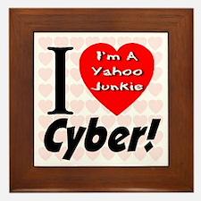 I Love Cyber -- I'm A Yahoo J Framed Tile