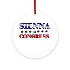 SIENNA for congress Ornament (Round)