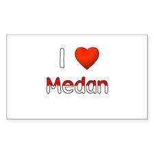 I Love Medan Rectangle Decal