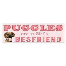 puggles are a girls bestfriend Bumper Bumper Sticker