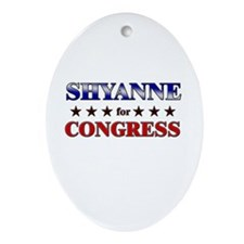 SHYANNE for congress Oval Ornament